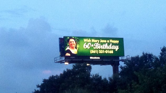 Florida Woman, Julie Bricker, Wishes Mom a Happy 60th on a Billboard (ABC News)