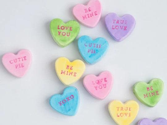 12 Adorable Conversation Hearts Craft Projects for Valentine's Day