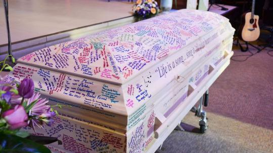 Teen's Coffin Becomes a Touching Yearbook-Style Tribute