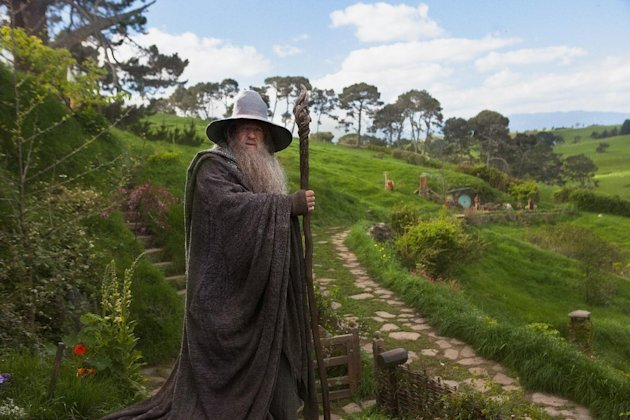 This film image released by Warner Bros., shows Ian McKellen as Gandalf in a scene from the fantasy adventure &quot;The Hobbit: An Unexpected Journey.&quot; (AP Photo/Warner Bros., James Fisher)