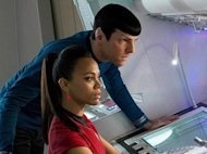Spock and Uhura in ST: Into Darkness