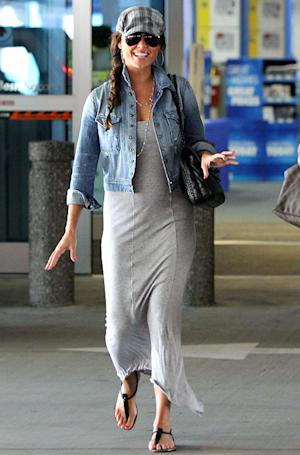 PIC: Pregnant Vanessa Lachey Shows Off Baby Bump in Tight Gray Dress