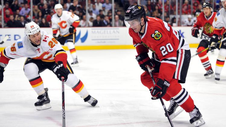 NHL: Calgary Flames at Chicago Blackhawks