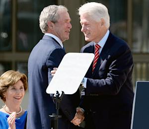 "Bill Clinton Jokes He's Jealous of George W. Bush: ""You Beat Me to Be a Grandfather"""