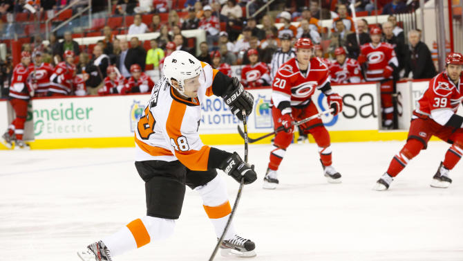 NHL: Philadelphia Flyers at Carolina Hurricanes