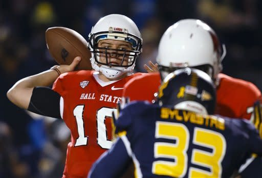 Edwards leads Ball State past No. 23 Toledo, 34-27