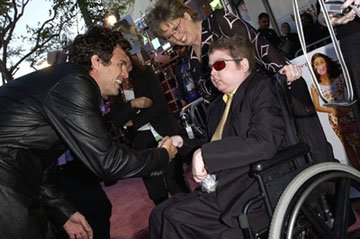 Premiere: Mark Ruffalo and Joe Kindergan with Make-A-Wish Foundation at the L.A. premiere of Revolution Studios' 13 Going on 30 - 4/14/2004