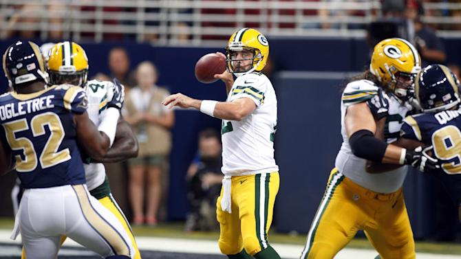 Familiar faces for Packers QB Aaron Rodgers