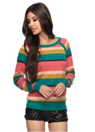 Mixed - Striped Sweater
