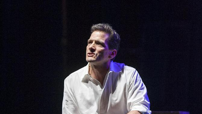 """This theater image released by Blake Zidell & Associates shows James DeVita in his one man show, """"In Acting Shakespeare,"""" performing off-Broadway at The Pearl Theatre in New York. (AP Photo/Blake Zidell & Associates, Jacob J. Goldberg)"""