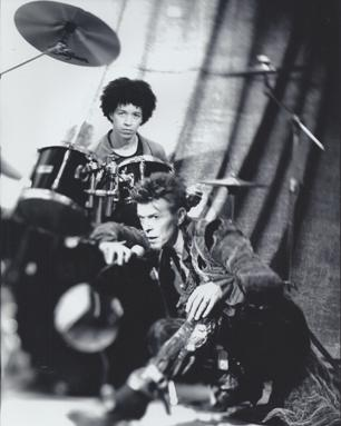 Zachary Alford and David Bowie, Photo by Frank Ockenfels