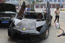 Photo: Man builds replica Lamborghini out of scrap metal