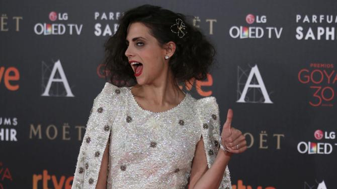 Actress Gomez poses on the red carpet before the Spanish Film Academy's Goya Awards ceremony in Madrid