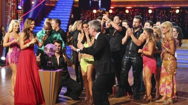 Tony Dovolani and Melissa Rycroft celebrate their victory on 'Dancing with the Stars: All-Stars,' Nov. 27, 2012 -- ABC