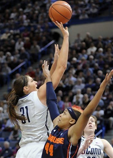 Dolson leads No. 3 UConn women over Syracuse 87-62