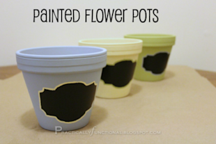 Chalkboard Label Flower Pots