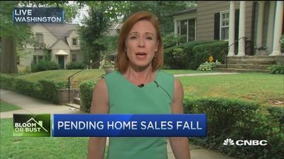 Pending home sales fall