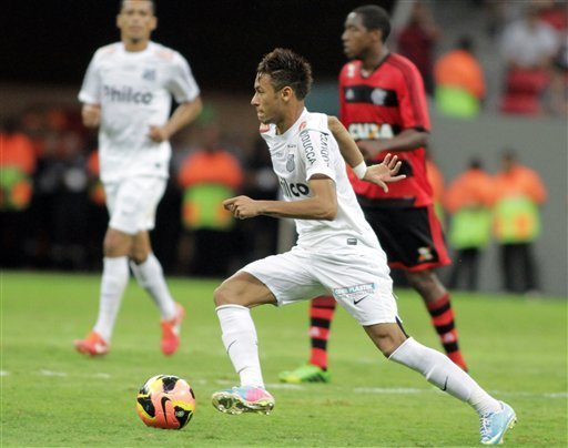 Neymar weeps in emotional last match with Santos