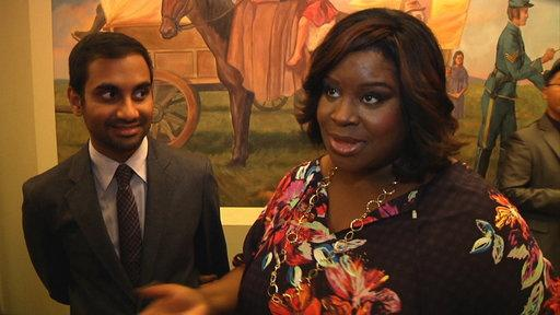 Aziz Ansari and Retta 100th Episode Interview