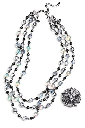 Abdul&amp;#39;s collection features a sparkly necklace. (Avon)
