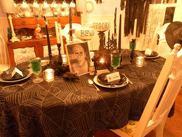 A Halloween Dinner Party Tablescape