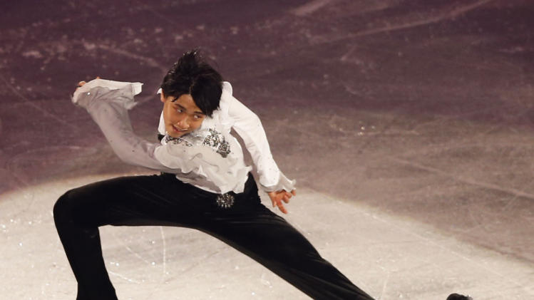 Yuzuru Hanyu of Japan performs during gala exhibition at ISU Grand Prix of Figure Skating Final in Fukuoka