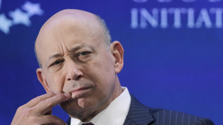 Goldman Sachs CEO's pay drops 18 pct to $13.3M