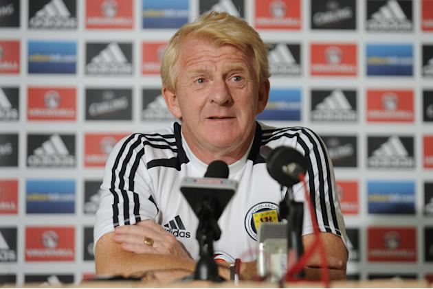 Soccer - FIFA World Cup Qualifying - Group A - Macedonia v Scotland - Scotland Press Conference - Skopje Holiday Inn