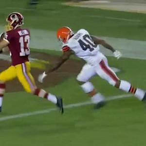 Washington Redskins wide receiver Nick Williams gives Redskins the lead