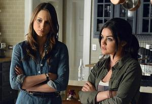 Troian Bellisario and Lucy Hale | Photo Credits: Erci McCandless/ABC Family