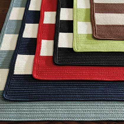 Striped Braided Indoor/Outdoor Rug