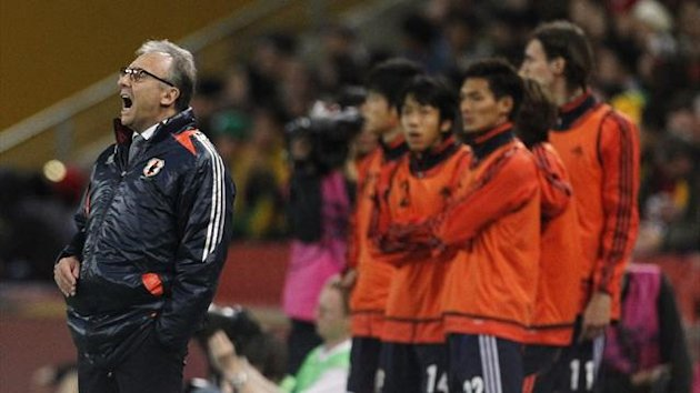 Japan's coach Alberto Zaccheroni during a 2014 World Cup qualifying match against Australia (Reuters)