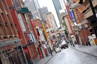 Chinatown district of the southern Australian city of Melbourne