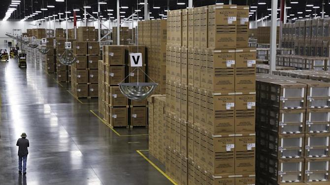 Boxed appliances are ready to be shipped out at the Whirlpool manufacturing plant in Cleveland