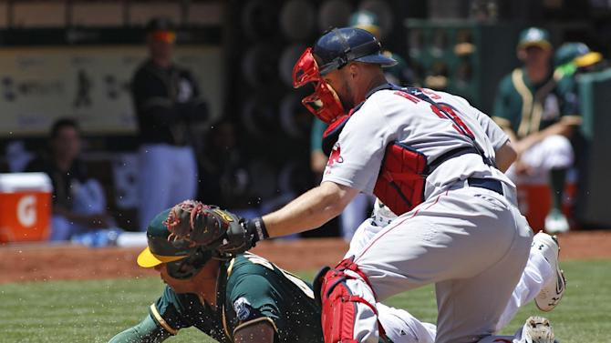 Uehara blows save but Red Sox hold off A's 7-6