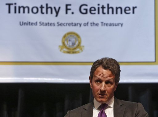 &lt;p&gt;US Treasury Secretary Timothy Geithner has praised recent measures to combat the eurozone&#39;s debt problems, saying the bloc was on &quot;a more promising path&quot; to resolving the crisis.&lt;/p&gt;
