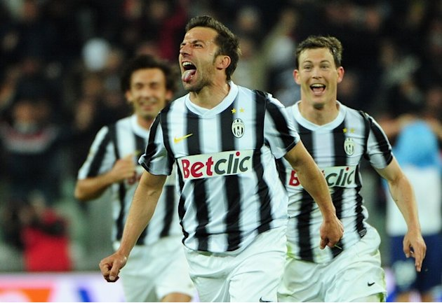 Juventus' Forward Alessandro Del Piero Celebrates AFP/Getty Images