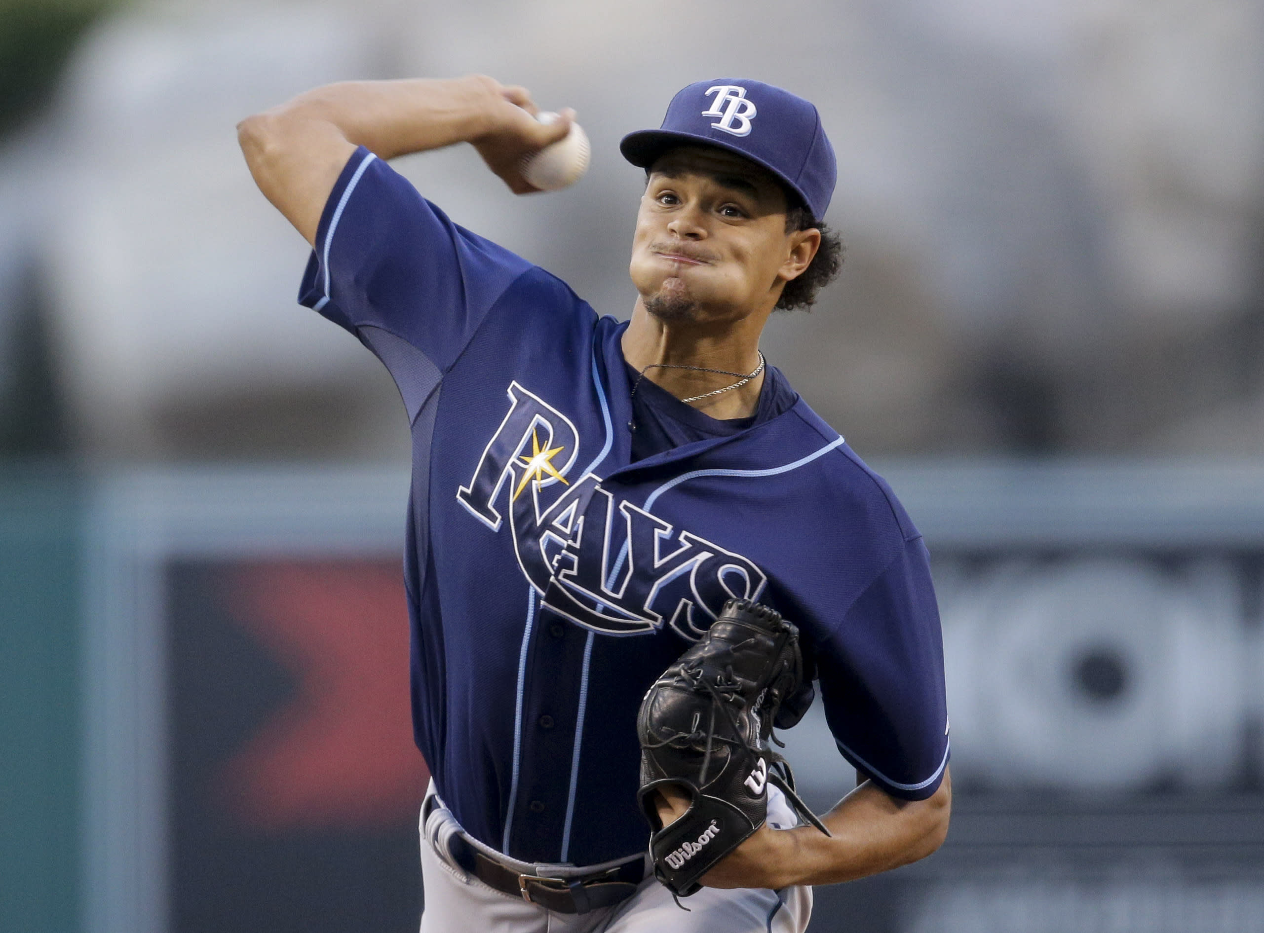 Archer ties Rays record with 15 Ks in 6-1 win over Angels