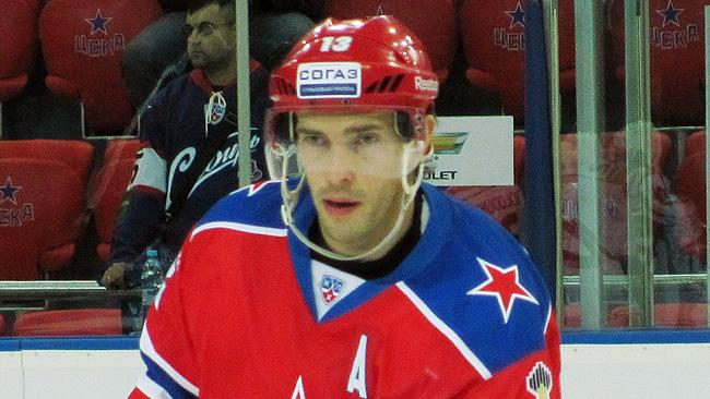 Pavel Datsyuk on the ice for CSKA Moscow