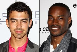 Joe Jonas, Tyson Beckford | Photo Credits: Ryan Pierse/Getty Images; Danny Martindale/WireImage
