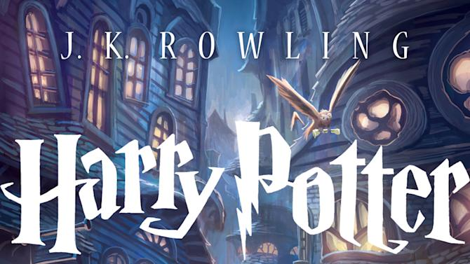 "This book cover image released by Scholastic  Inc., shows the cover for the U.S. trade paperback editions of J.K. Rowling's blockbuster ""Harry Potter"" series. The new edition of ""Sorcerer's Stone"" is scheduled for September, the 15th anniversary of Potter's debut in the U.S. The British editions are published by Bloomsbury. They have long had separate designs from the U.S. versions. (AP Photo/Scholastic  Inc.)"