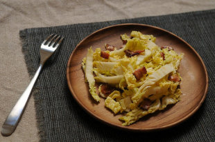 Cabbage Salad with Hot Bacon Dressing