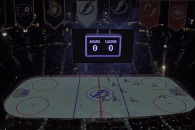 Tampa Bay Lightning turn rink into an enormous NES game