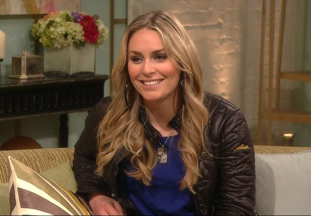 Lindsey Vonn appears on Access Hollywood Live on March 29, 2012 -- Access Hollywood