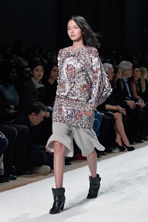 A model wears a creation as part of Chloe's s ready-to-wear …