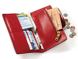 open red wallet