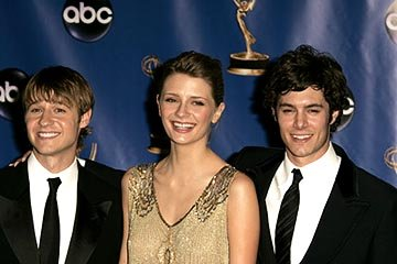 Benjamin McKenzie, Mischa Barton and Adam Brody Presenter for Outstanding Directing in a Drama Series Emmy Awards - 9/19/2004 Benjamin McKenzie
