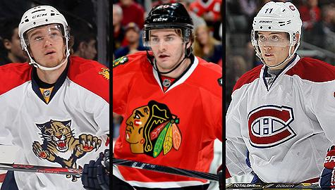 Jonathan Huberdeau, Brandon Saad and Brendan Gallagher are up for NHL rookie honors