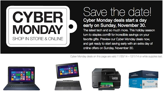Check out Staples' special Cyber Monday tech deals – everything you need to know