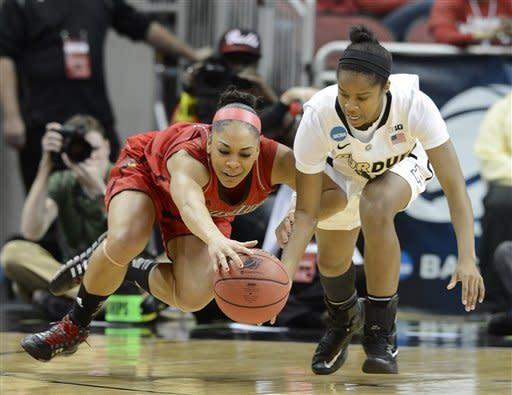 Louisville women beat Purdue 76-63 in 2nd round